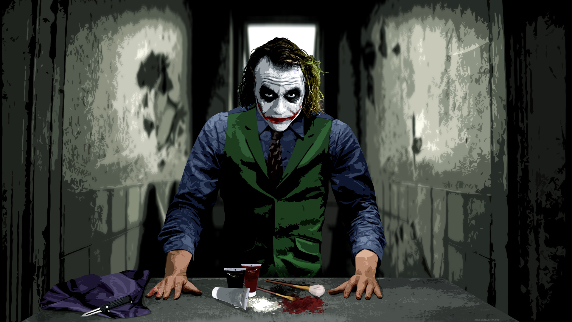 Scary Joker wallpaper images to all