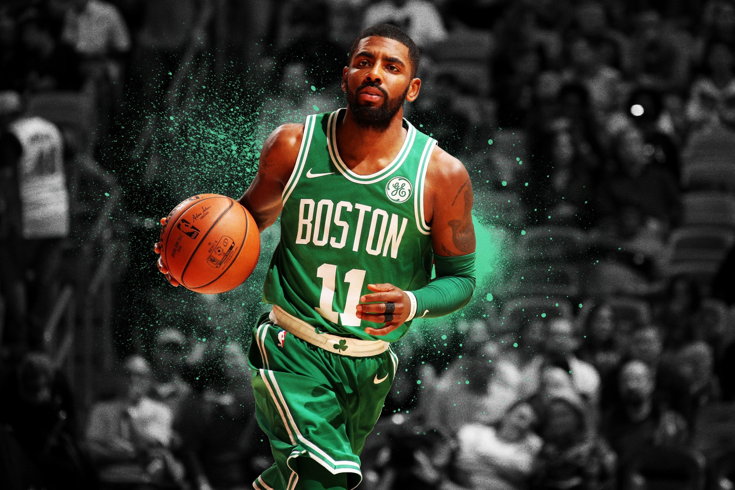 Kyrie Irving Background and The Wallpaper Design