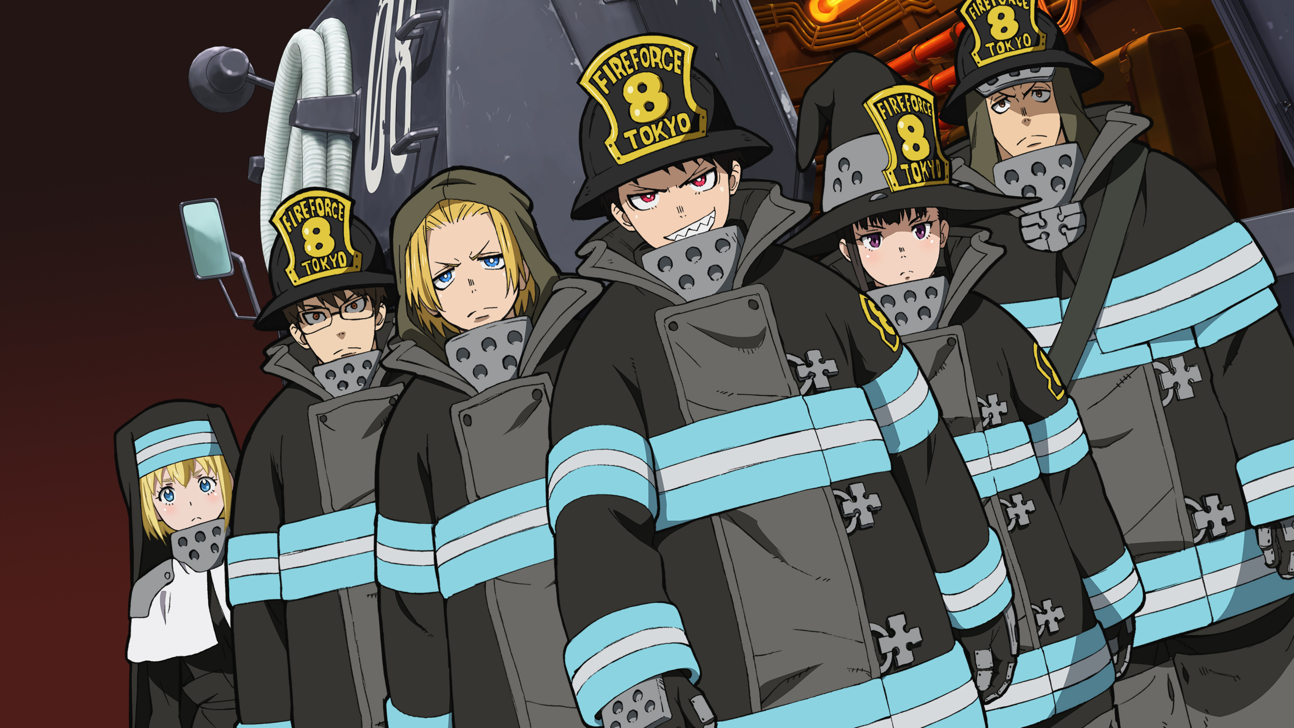 Fire Force Wallpaper – The Characters From The Fire Force Series