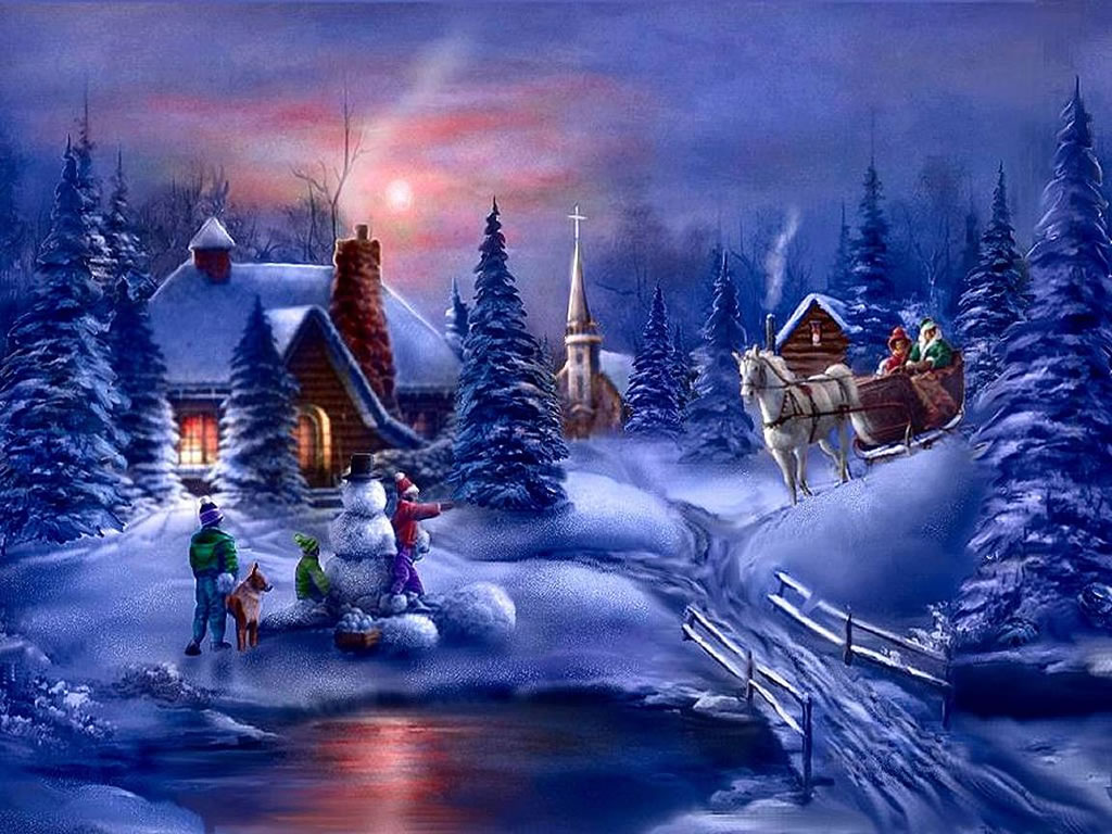 Christmas Scene Wallpaper – Create Your Home With Beautiful Wallpapers