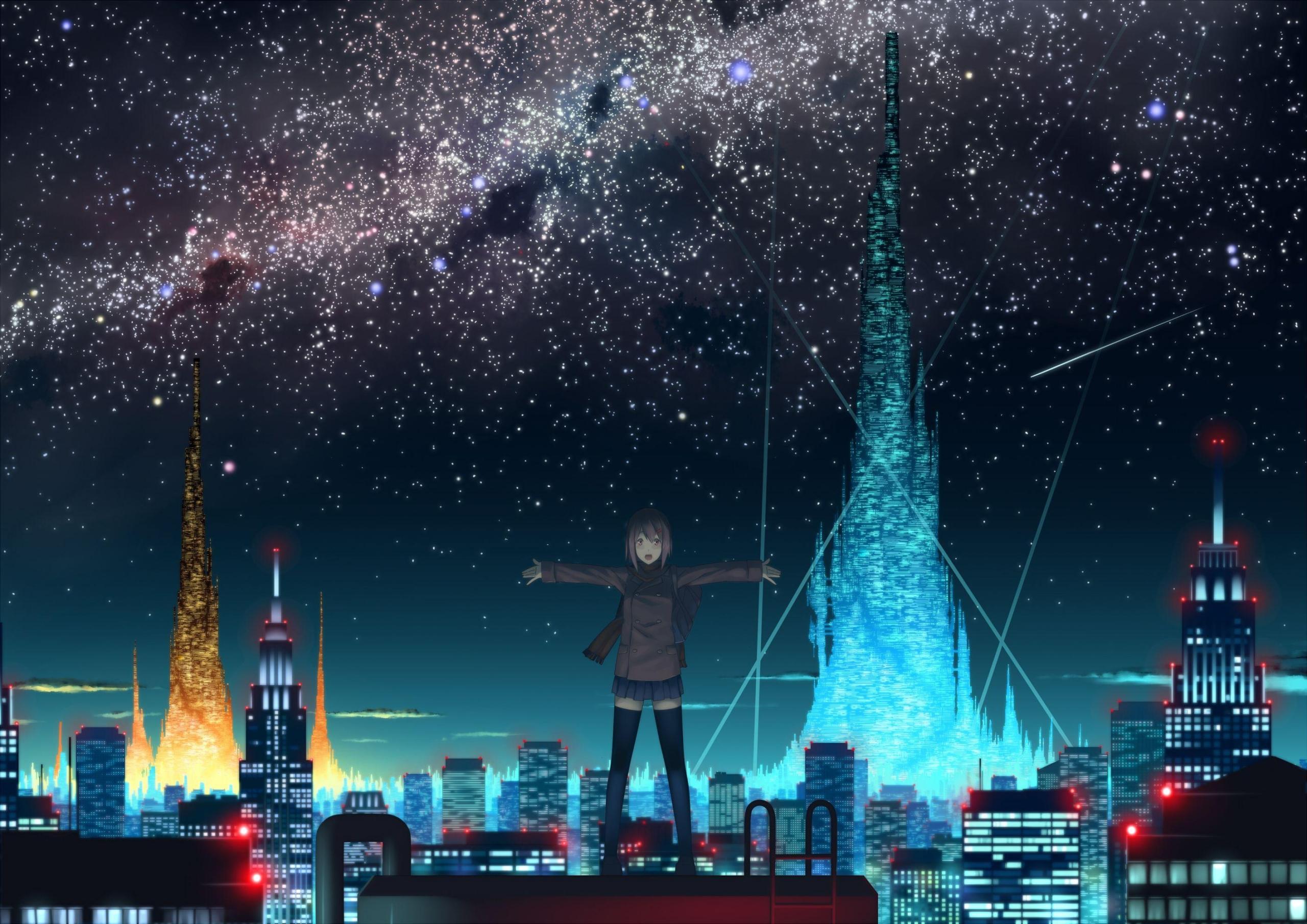Anime City Wallpaper – Unique Wallpaper design For Your Computer