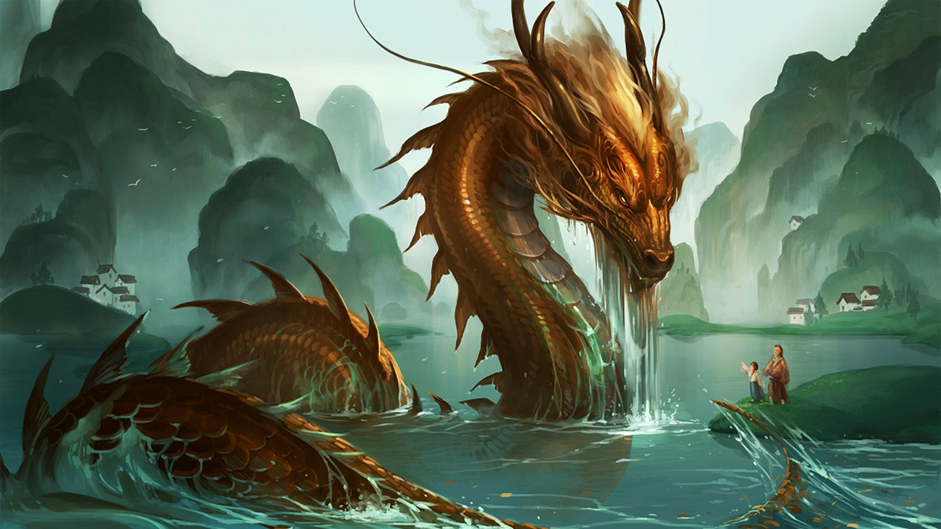 Chinese Dragon Wallpaper – An enchanting and magnificent image to beautify your desktop!