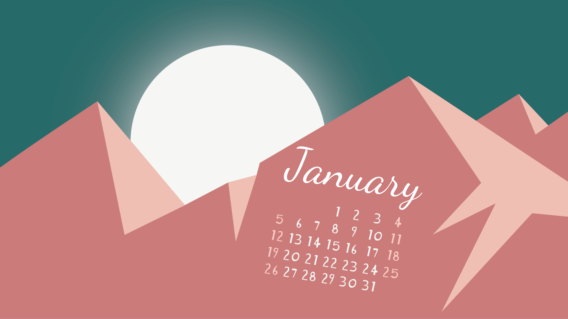 Download Your free January 2020 Wallpaper