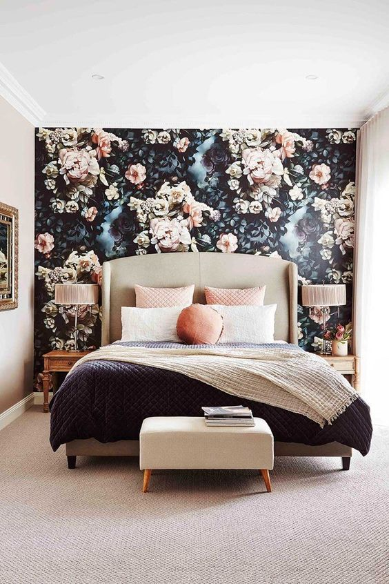 Make A Statement Wall mural Images In Your Home With Accent Wallpaper