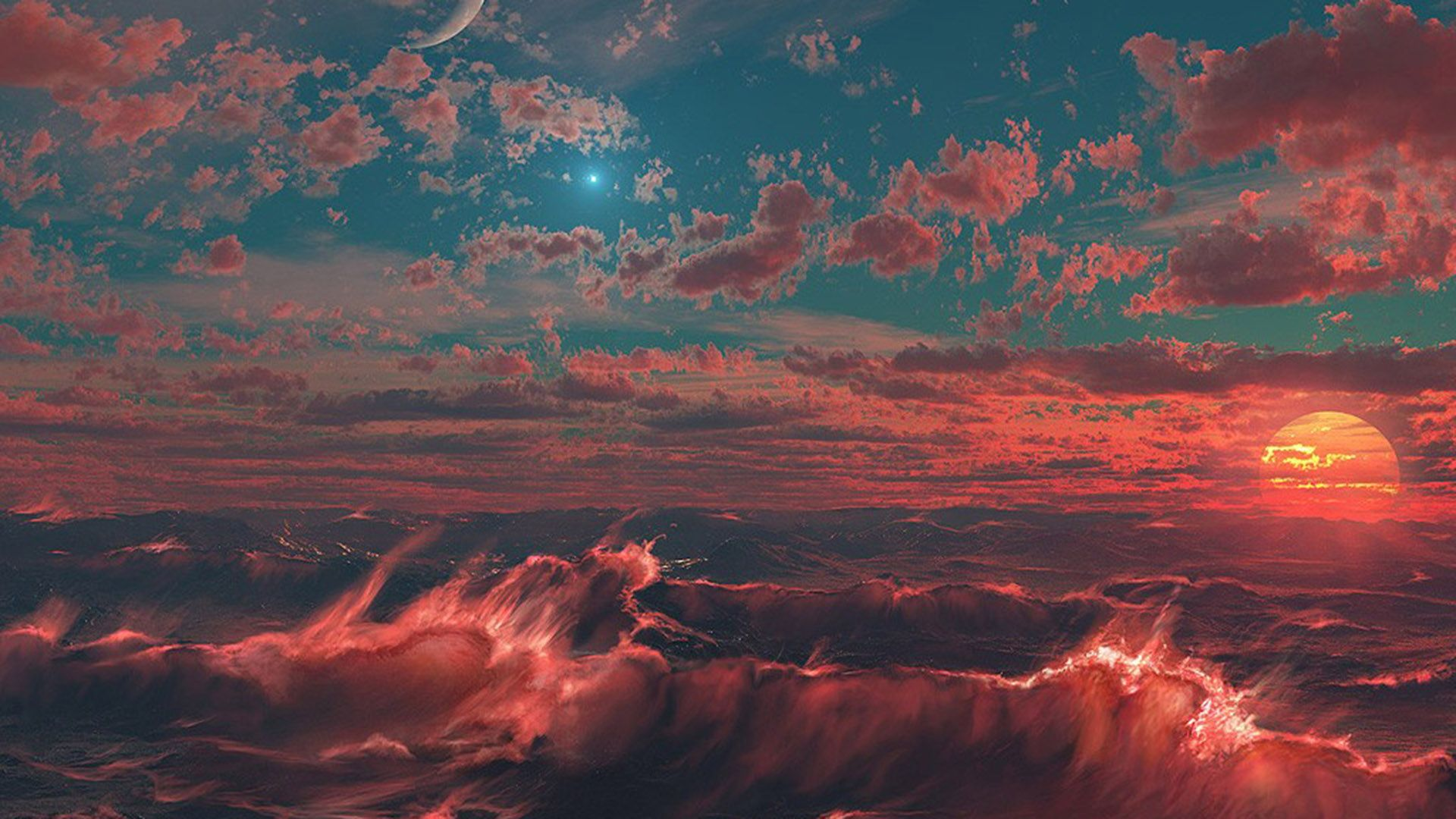 Aesthetic Wallpaper Red Color