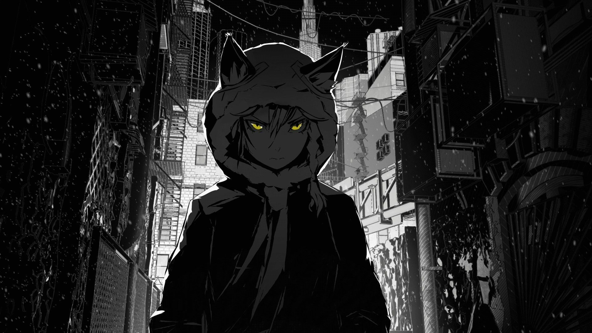 Black and White Anime Wallpaper Design Ideas For computer