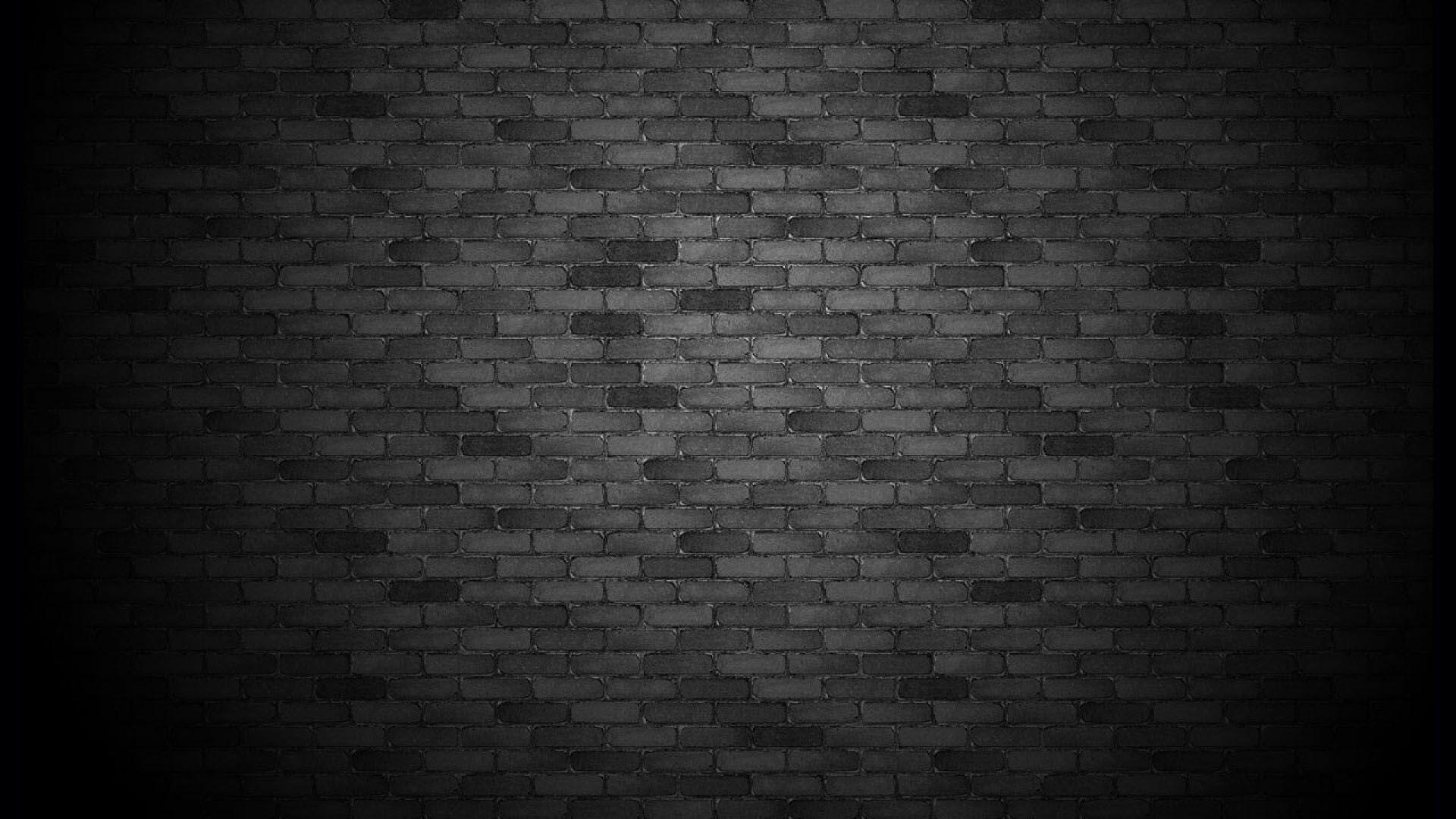 Innovative Black Brick Wallpaper