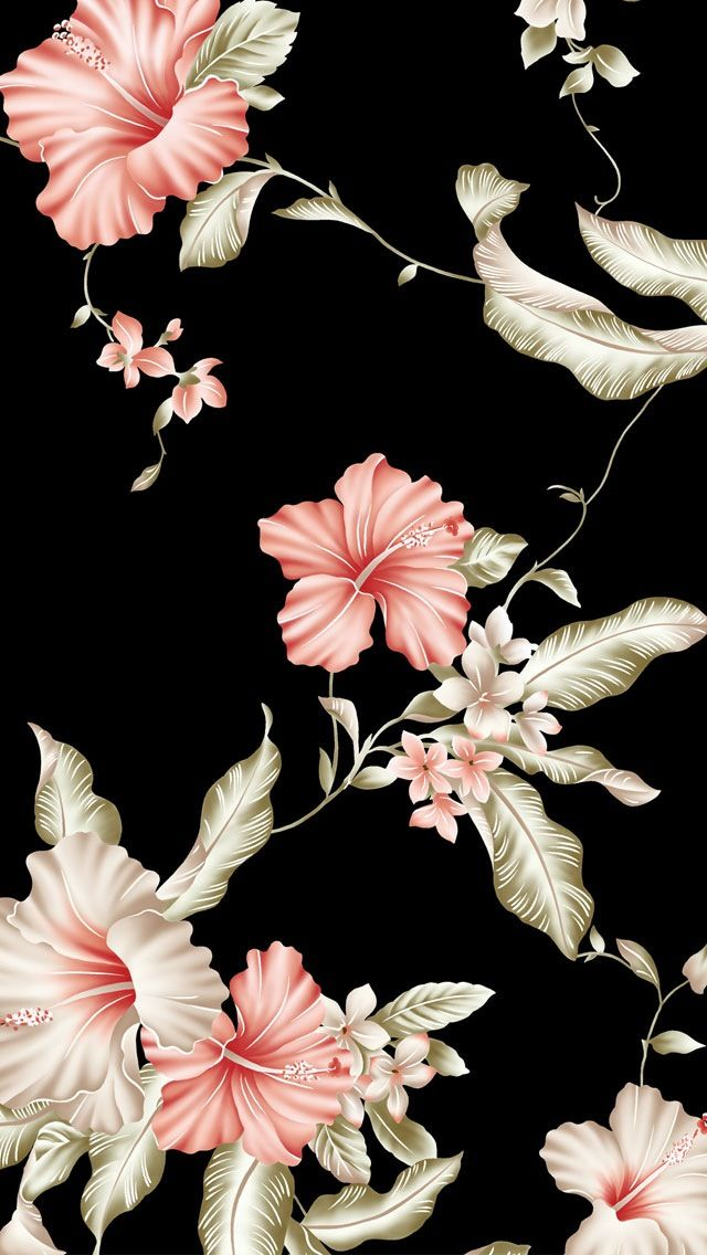 Black Floral Wallpaper – Perfect For Any Woman