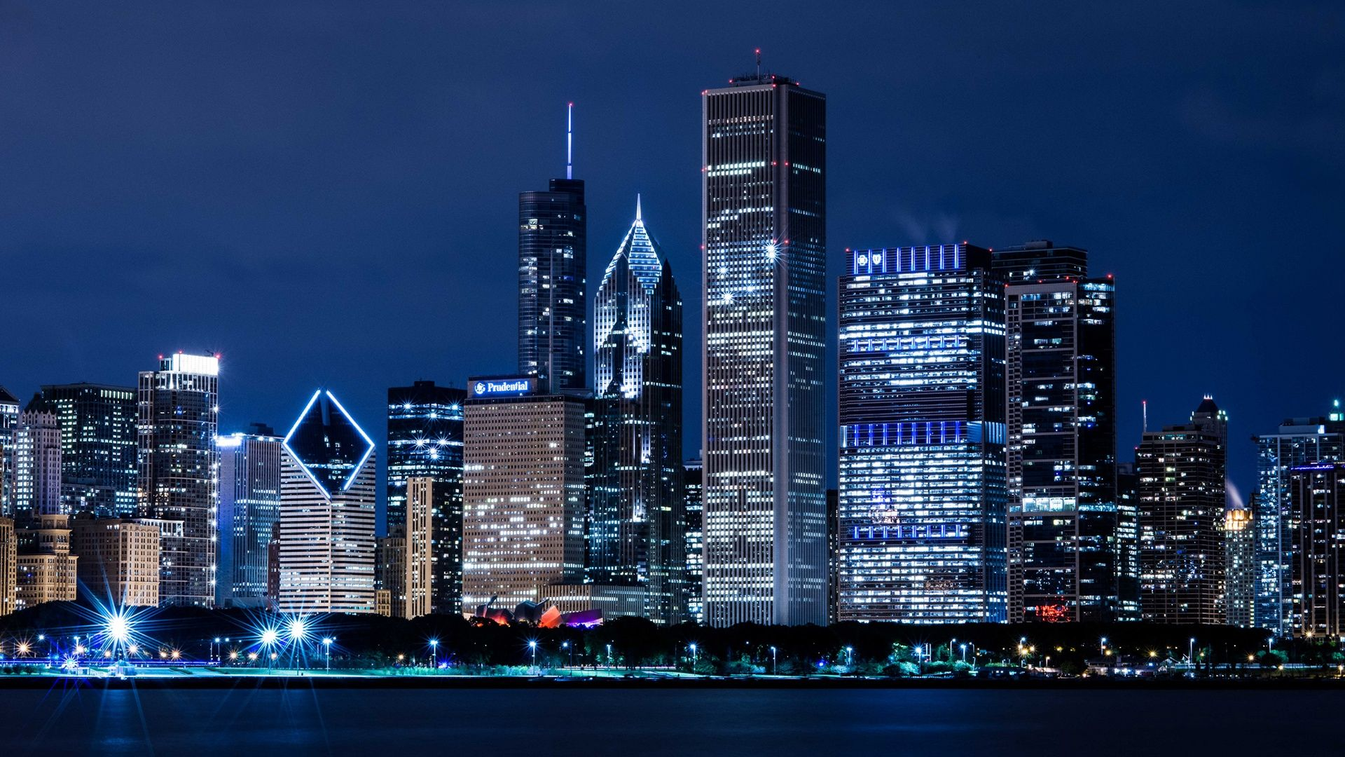 Windy City Skyline Wallpaper design Ideas That You Can Use