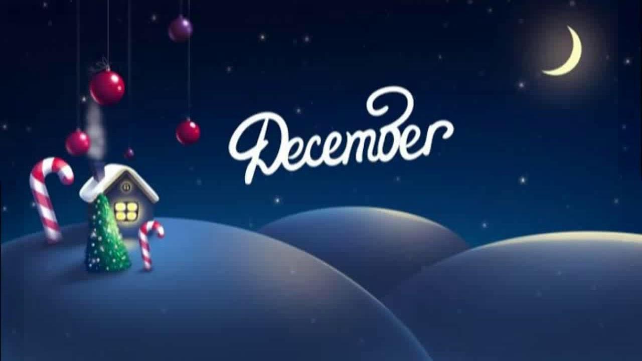 Downloading December Background for Your Desktop