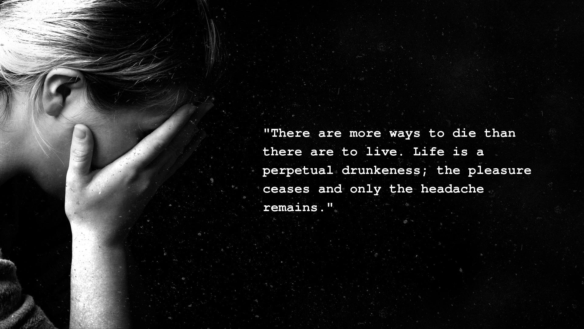 Depressed? Find Great Depression Quotes Wallpaper Online