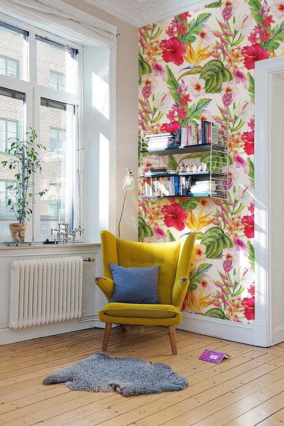 Floral Removable Wallpaper can give any room a Fresh