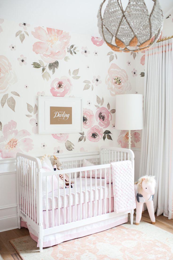 Inspiring Wallpaper Design For Girl's Nursery Design ideas
