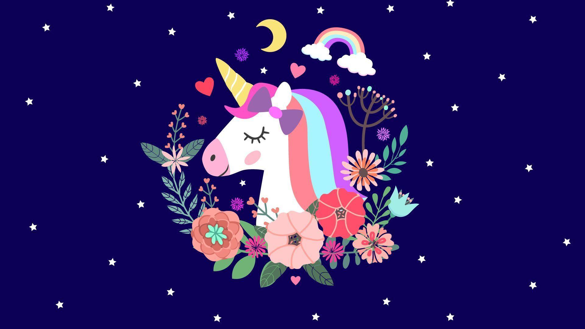 Beautiful Glitter Unicorn Wallpaper