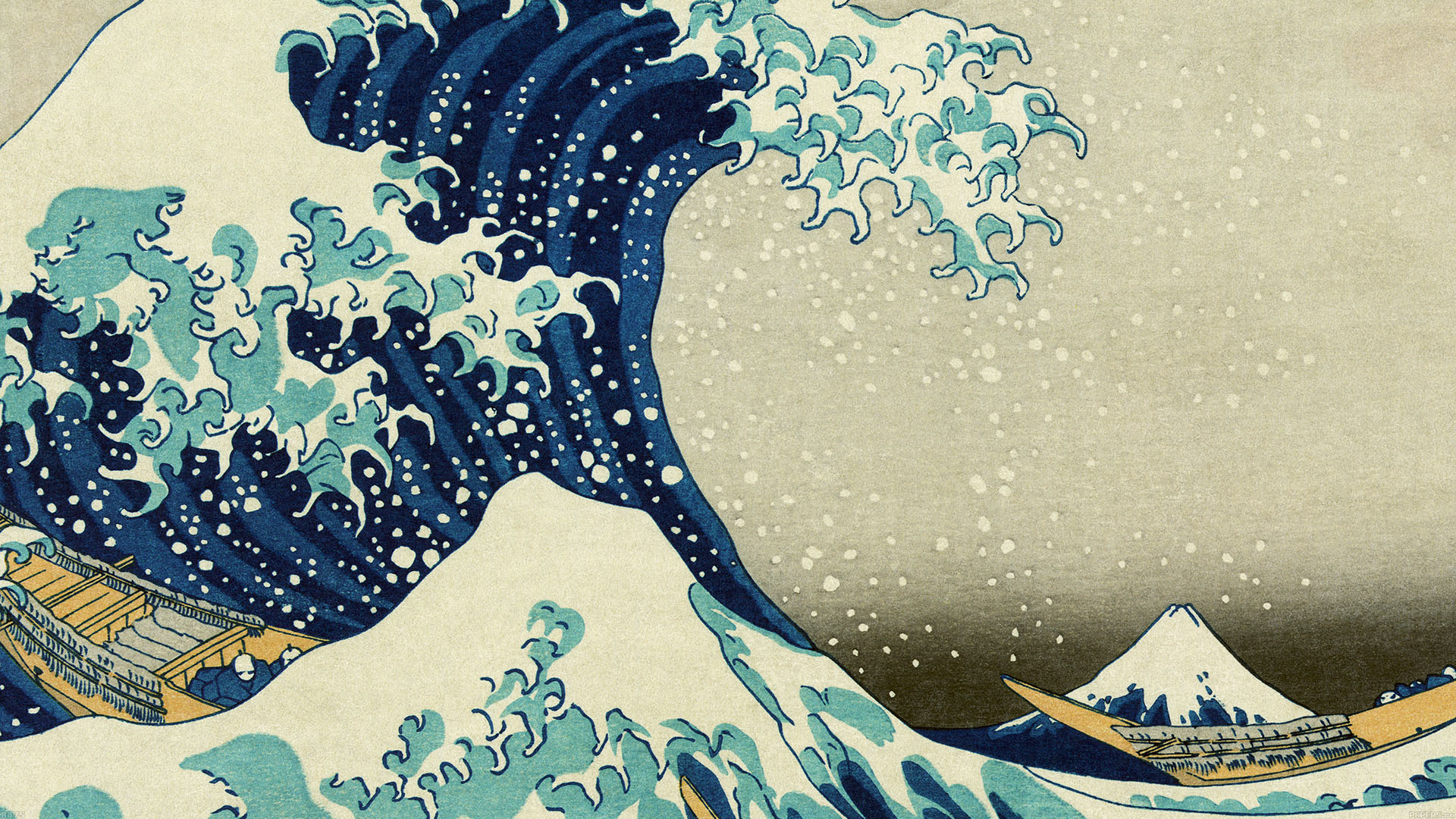 Transform Your Living Room With Cool Japanese Wave Wallpaper
