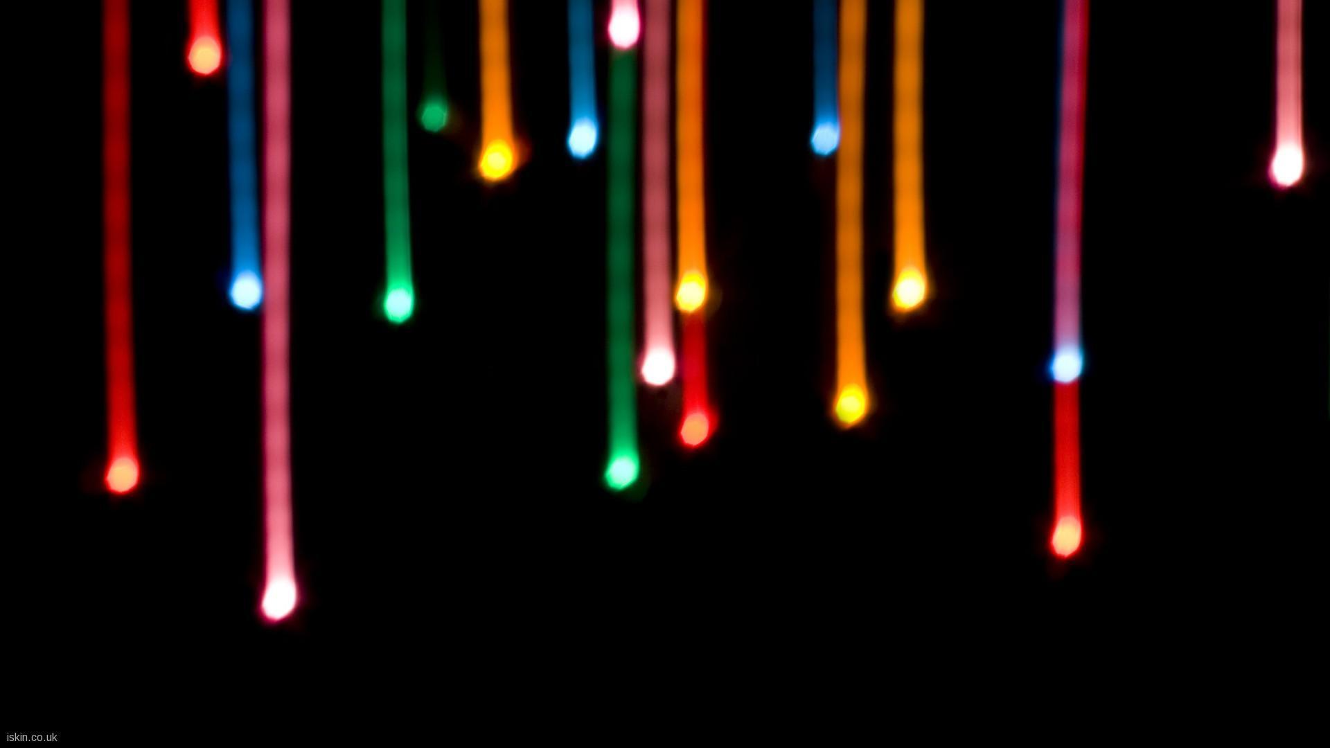 Colourful LED Light Wallpaper