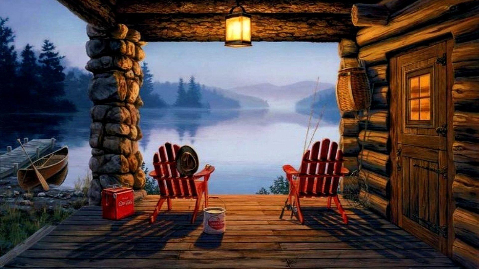 Top Quality Log Cabin Wallpaper Designs
