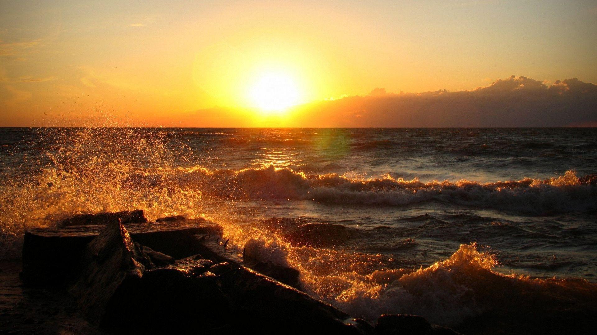 Choose Your Favorite Ocean Sunset Hd Wallpaper