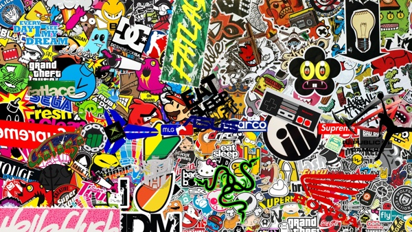 Create Your Own Sticker Bomb Wallpaper