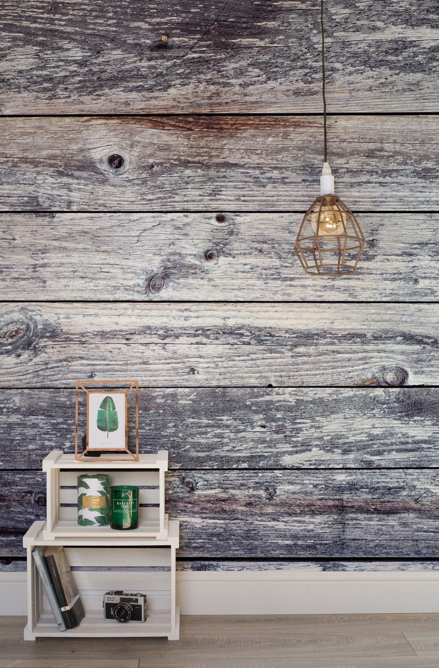 wood look wallpaper design ideas